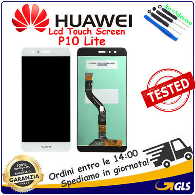 Display Lcd +Touch Screen Vetro Per Huawei (P10 Lite) Was-Lx1A Bianco