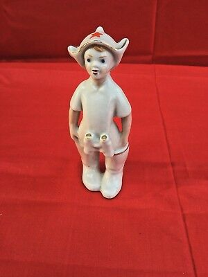 Boy Budenovets Red Army Young Boy with Binoculars   PORCELAIN USSR SOVIET