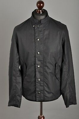 Men's BARBOUR Heritage Ash Waxed Navy Blue Jacket Coat Size S AW 17 RRP £229.00