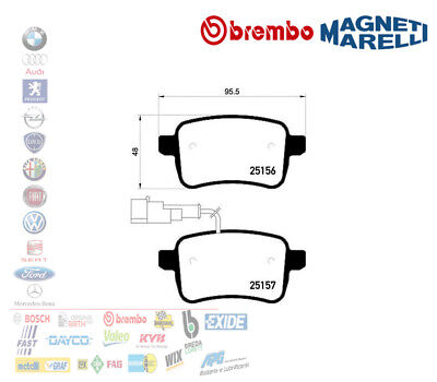 KIT 8 PASTIGLIE FRENO ANT+POST.ORIGINALI ALFA ROMEO Giulietta 1.4 Turbo 1.6 JTDm