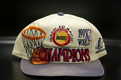 05d88537 Vintage Logo Athletic Houston Rockets 1995 World Champions Snapback Hat Cap  NBA