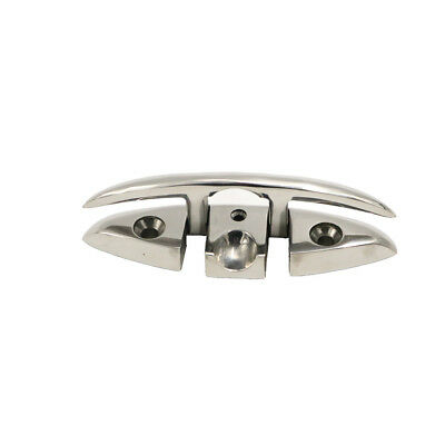 """6"""" Stainless Steel Folding Cleat for Marine, Dock Folding Cleat"""