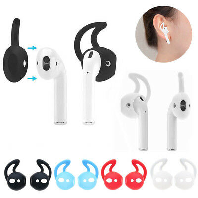 5 Pairs Silicone Ear Hooks Earbuds Holder Case Cover With Hook For Apple AirPods