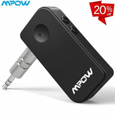 Mpow Bluetooth Wireless 3.5mm Stereo Aux Audio Music Home Car Receiver Adapter