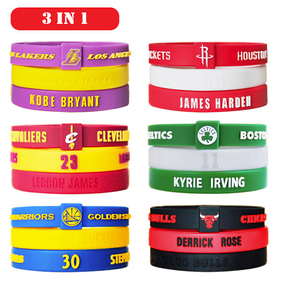 3IN1 NBA ALL Star Wristband Silicone Wrist Band Rubber Bracelet