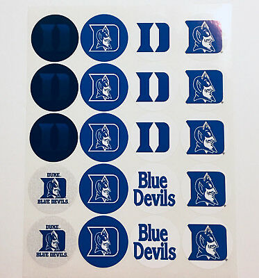 """SET of 40- 2"""" DUKE BLUE DEVILS ADHESIVE STICKERS.Make Cupcake Toppers!"""