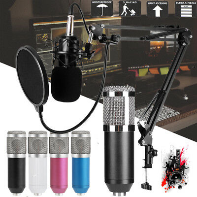 BM800 Dynamic Condenser Wired Microphone Mic Sound Studio for Singing Recording