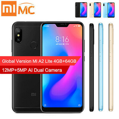 Global Version Xiaomi Mi A2 Lite Octa Core Android8.1 4G Dual Camera Smart Phone