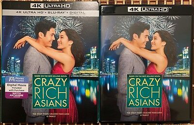 Crazy Rich Asians 4K Ultra Hd Blu Ray 2 Disc Set Slipcover Sleeve Free Shipping