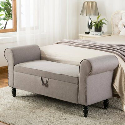 Super Modern Fabric Storage Ottoman Bench Upholstered Footstool Gmtry Best Dining Table And Chair Ideas Images Gmtryco