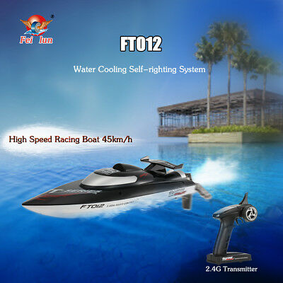 Feilun FT012 2.4G Brushless 45km/h RC Racing Boat Self-righting System F7C7
