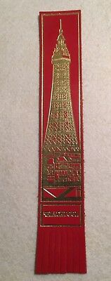Collectable Red  Leather Bookmark Blackpool Tower   (#Ee04)