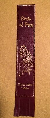 Collectable Wine  Leather Bookmark Birds Of Prey Owl     (#Ee03)