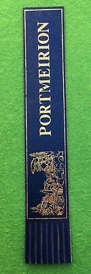 Collectable Leather Bookmark Blue Portmeirion  (#Ee06)