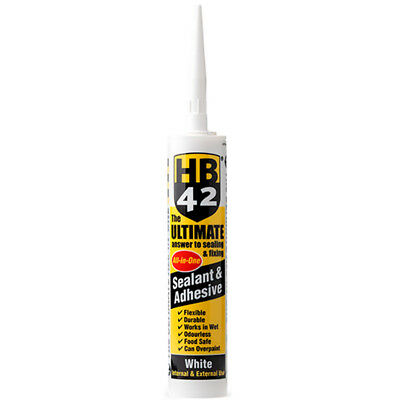 HB42 Ultimate Sealant Adhesive White 310ml Cartridge Best in Class UK Supplier
