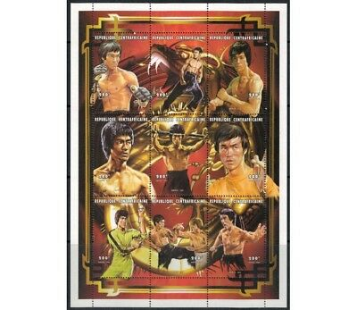 AFRICA CENTRALE 1997 Omaggio a Bruce Lee 9v MNH**