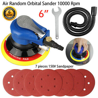 "6"" Air Random Orbital Palm Sander 150mm Dual Action Auto Body Orbit DA Sanding"