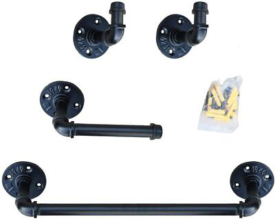 Bathroom Hardware Set - Industrial Pipe Wall Mount Bathroom Accessories