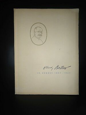 Firmengeschichte Biographie Albert Ballin 15. August 1857 -1957  Hamburg Reeder
