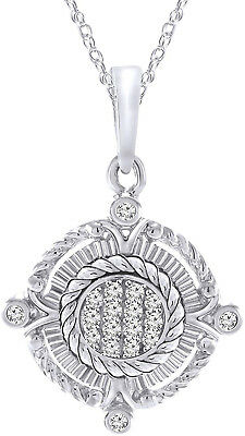 Dancing Diamond Island Pendant in Sterling Silver 0.11carats, H-I I2