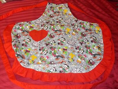 Disney Park 2018 Santa Mickey Mouse and Friends Christmas Holiday Apron NEW/TAGS