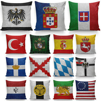 Early Modern Flag Pillow Cover World National Flag Pillow Protector 40cm & 45cm