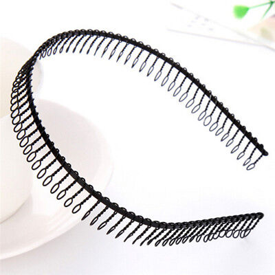Practical Black Metal Teeth Comb Hairband Hair Hoop Headband For Woman Sexy  Gn 3ee91e6e3fc