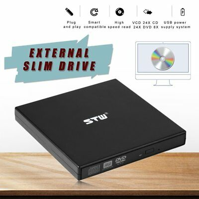 USB 2.0 External CD/DVD ROM Player Optical Drive DVD RW Burner Reader Writer AZ