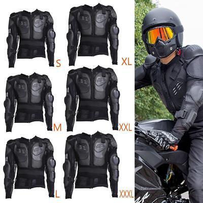 Motorcycle Body Armor Protector Jacket Spine Chest Shoulder Protection Riding