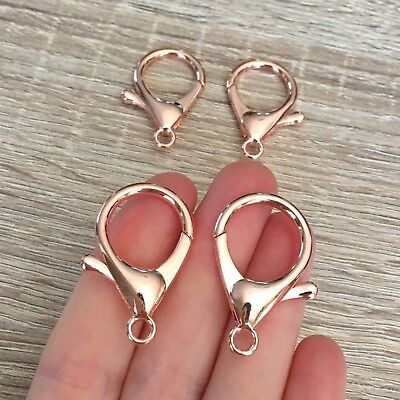 34mm Rose Gold Plated Parrot Clasps 10/20/30 Pcs Lobster Clips Jewelry Findings