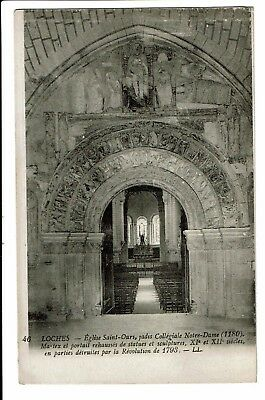 CPA - Carte postale - FRANCE - Loches - Eglise St Ours- Portail-S4228