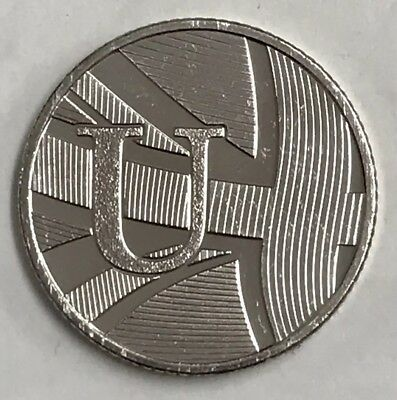 New 10p Coin Letter U 2018 Union Jack Ten Pence Free P&P