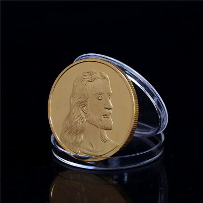Jesus The Last Supper Gold Plated Commemorative Coin Art Collection Gift TS