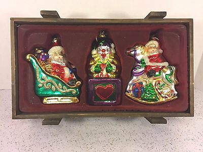Thomas Pacconi Museum Series Xmas Ornaments in Wood Case Set #2