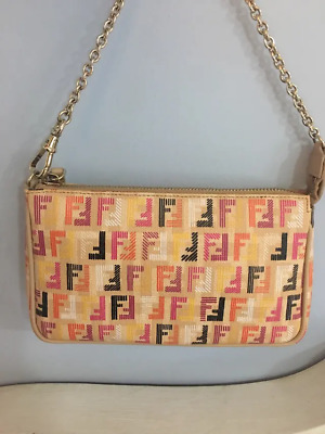 2313fee8d3ce Fendi Authentic New With Certificate And Dust Bag Beige Leather Logo Bag