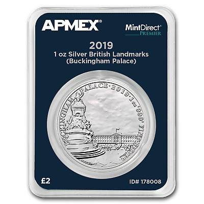 2019 GB 1 oz Silver Landmarks Buckingham Palace (MD® Premier) - SKU#178008