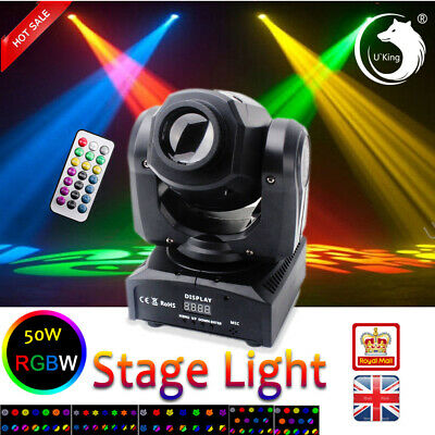 U`King 80W Stage Lighting LED Moving Head Gobo DMX Remote DJ Wedding Party Light