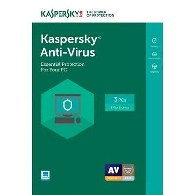 Kaspersky Lab Antivirus 2019 For 3 Utilisateurs 1 An Msb