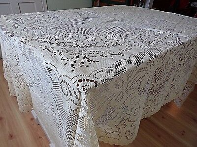 Lace Tabelcloth~Creamy Ivory/Ecru~NWOTS~