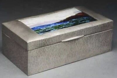 Liberty Tudric Hammered Pewter Cigar Box. Fleetwood Charles Varley Landscape