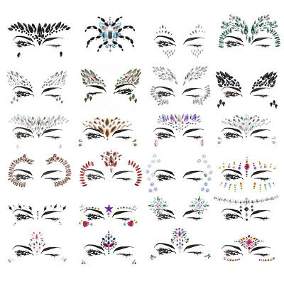 Makeup Crystal Face Body Jewels Festival Party Glitter Eye Stickers Tattoo TS