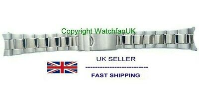 Stainless Steel Oyster Bracelet With Curved Ends Fits RLX 18mm 20mm 22mm