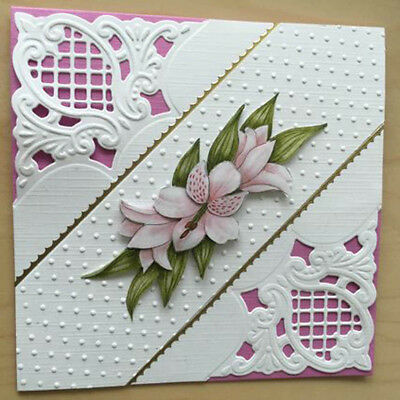 DIY Pattern Corner Frame Metal Cutting Die For Scrapbooking Album Paper Car TS