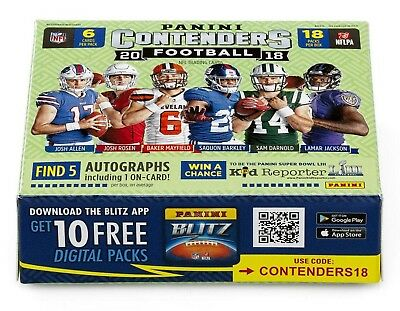 2018 Panini Contenders Season Ticket Football Base Singles (Pick Your Cards)