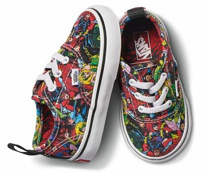 Vans Off The Wall Marvel Avengers Authentic Elastic Toddler Sz 5 VN0A38E8U41 ed8107c52