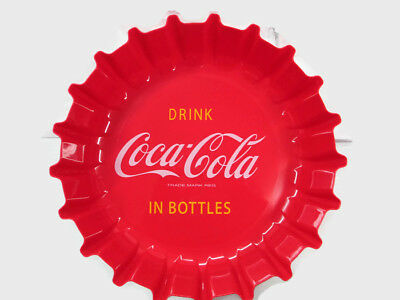 Coca-Cola Bottle Cap Chip Serving Party Bowl Red  - BRAND NEW