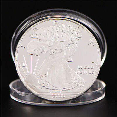 Silver Plated Bitcoin Coin Round Commemorative Coin Art Collection_Gift TS