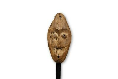 "Small Distressed African Mask from the Lega People 8.5"" - DRC"