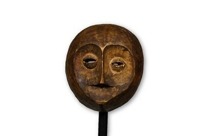 """Very Nice Small African Mask from the Lega People 8"""" - DRC"""