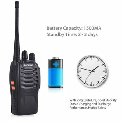 Portable Walkie Talkie UHF 400-470MHz 16CH BF-888S Two-Way Radio 5 kilometers AZ